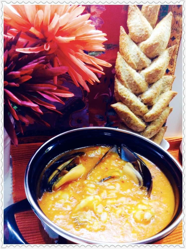 Arroz caldoso con sepia y mejillones al estilo Jambalaya 2