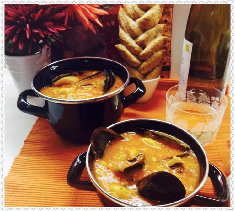 Arroz caldoso con sepia y mejillones al estilo Jambalaya