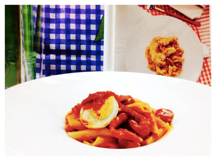 Macarrones con chorizo y panceta 3