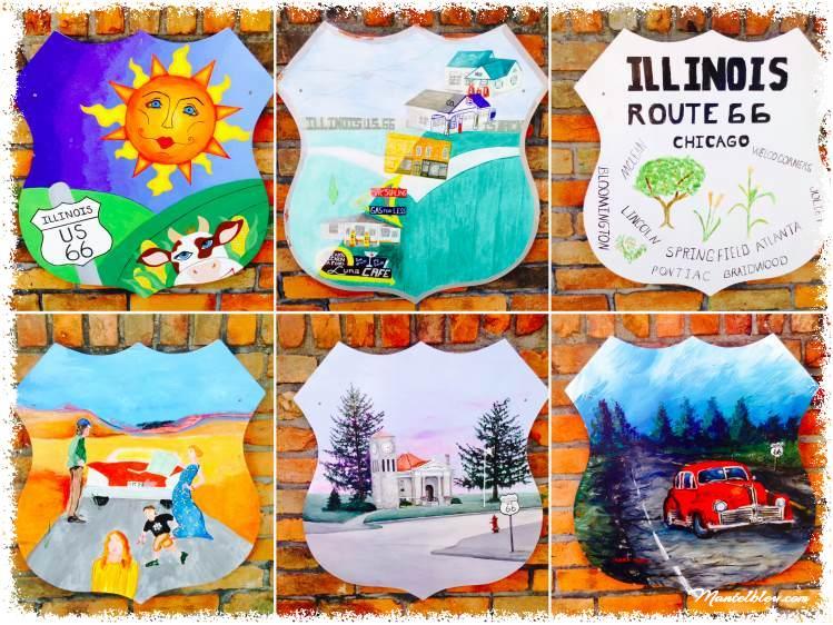 Route 66 Atlanta (Illinois) Murales de la ruta_Fotor