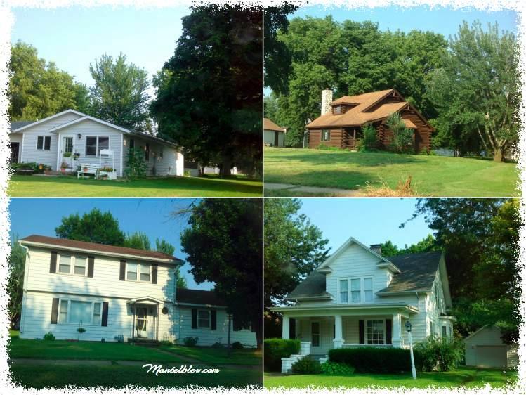 Casas  a lo largo de la ruta por Illinois
