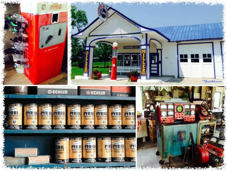 En Odell (Illinois), la gasolinera diseñada por la Standard Oil Co, aún conserva la máquina para enfriar Coca-