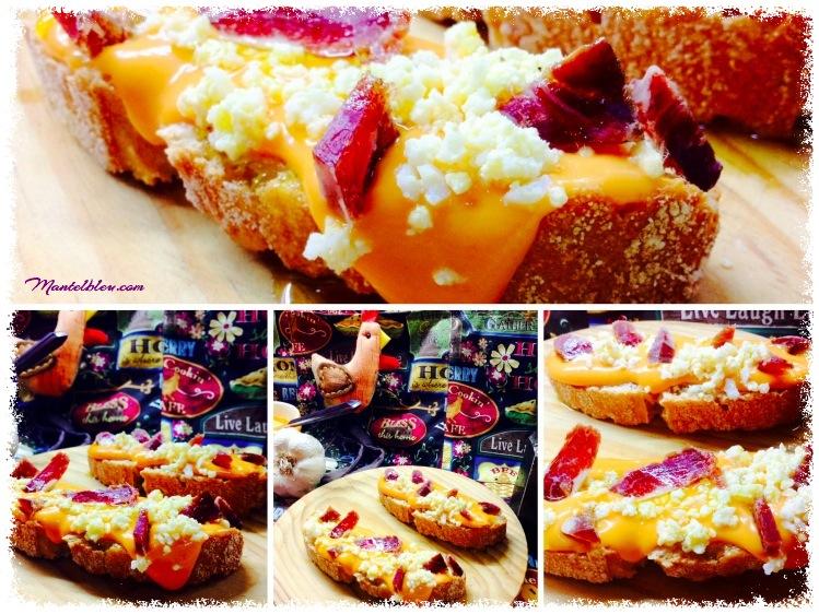 Tosta de salmorejo con huevo y _Fotor