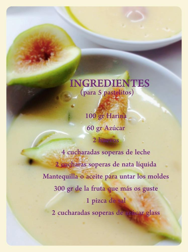 Clafoutis con uvas, higos y ciruelas