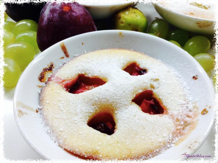 Clafoutis de higo, uvas y ciruelas 1