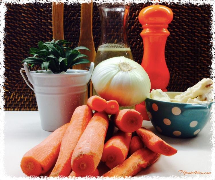 Crema de zanahoria con queso gorgonzola ingredientes