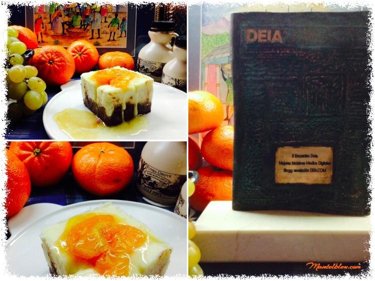 Tarta de queso con crujiente de chocolate y mandarina_Fotor