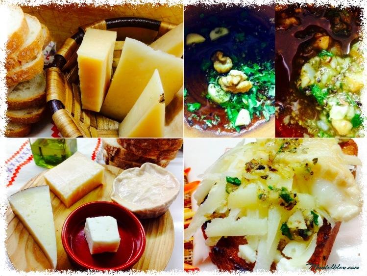 Tosta cuatro quesos ingredientes  y majado_Fotor