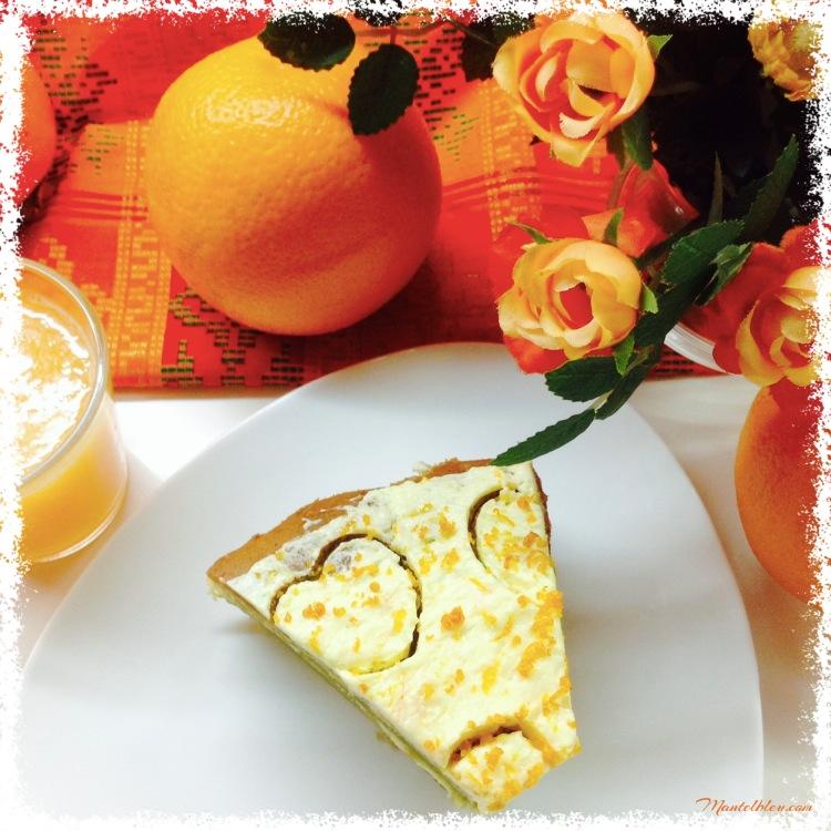 Tarta de té verde Matcha con crema de naranja 1