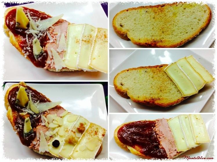 Tosta de mermelada de higos, quesos y patés_Fotor_Fotor