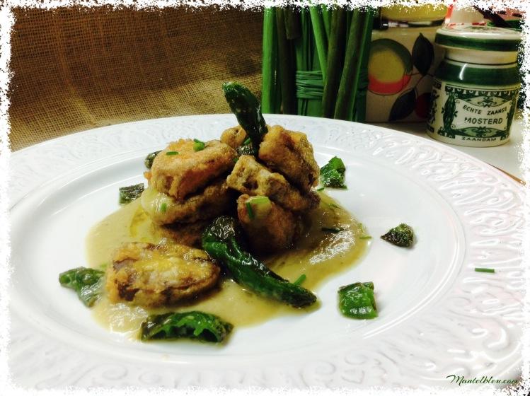 Lengua con crema de verduras y pimientos de Gernika 1