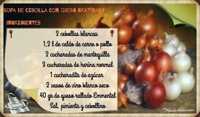 Sopa de cebolla con queso gratinado ingredientesFotor_Fotor