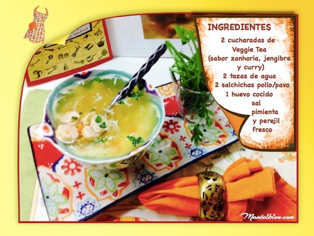 Sopa de zanahoria, jengibre y curry