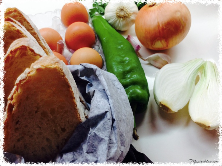 Tosta de revuelto de bacalao Ingredientes