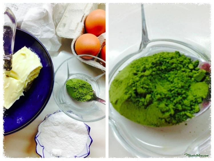 Tarta de té verde Matcha con crema de naranja Ingredientes 1_Fotor
