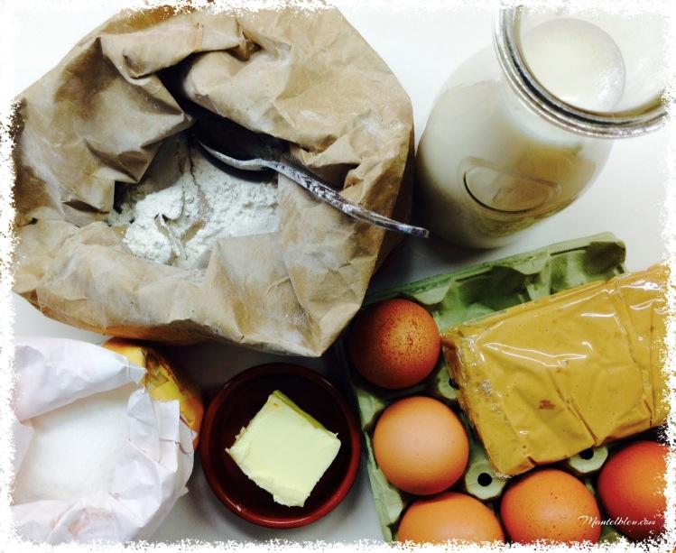 Bollitos de leche rellenos de turrón Ingredientes 1