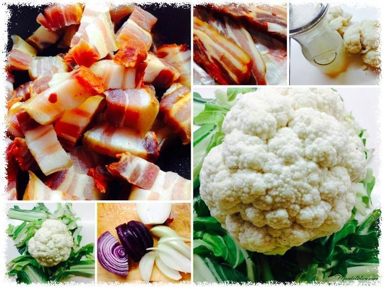Sopa de coliflor y bacón Ingredientes_Fotor