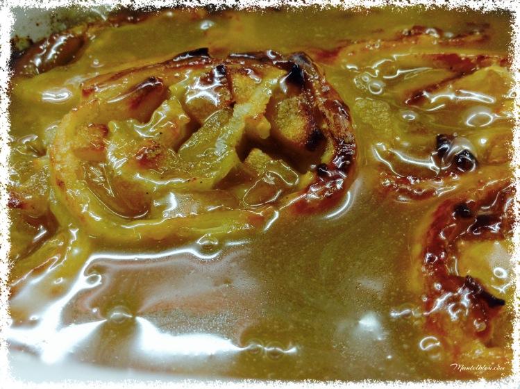 Tarta de caracolas con manzana y salsa de caramelo 2