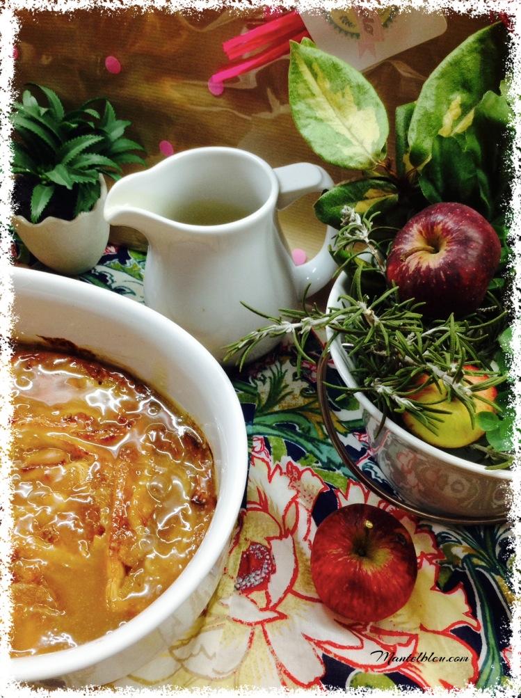 Tarta de caracolas de manzana con salsa de caramelo 1