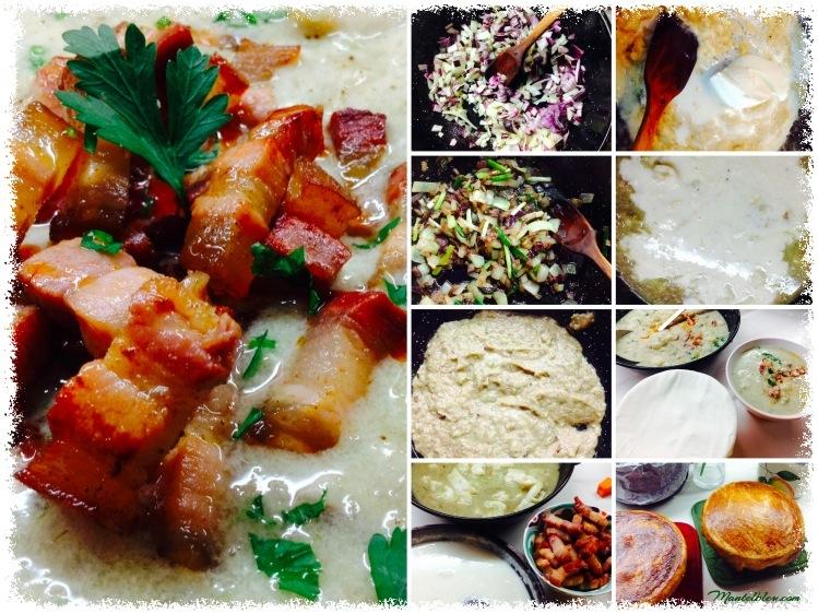 Sopa de coliflor y bacón elaboración_Fotor