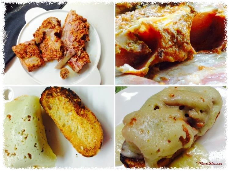 Tosta de costilla ibérica con fundido de queso Elaboración_Fotor