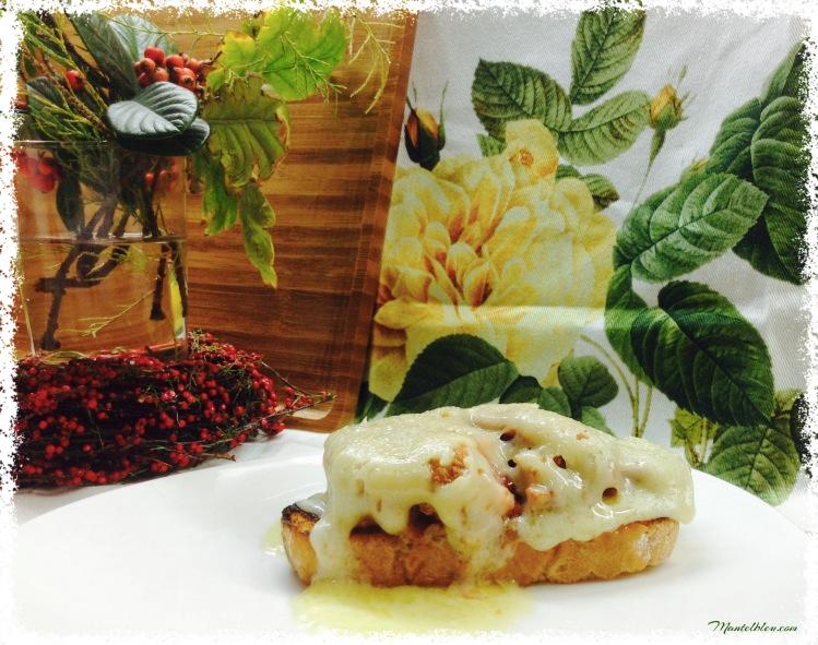 Tosta de costilla ibérica con fundido de jamón 2