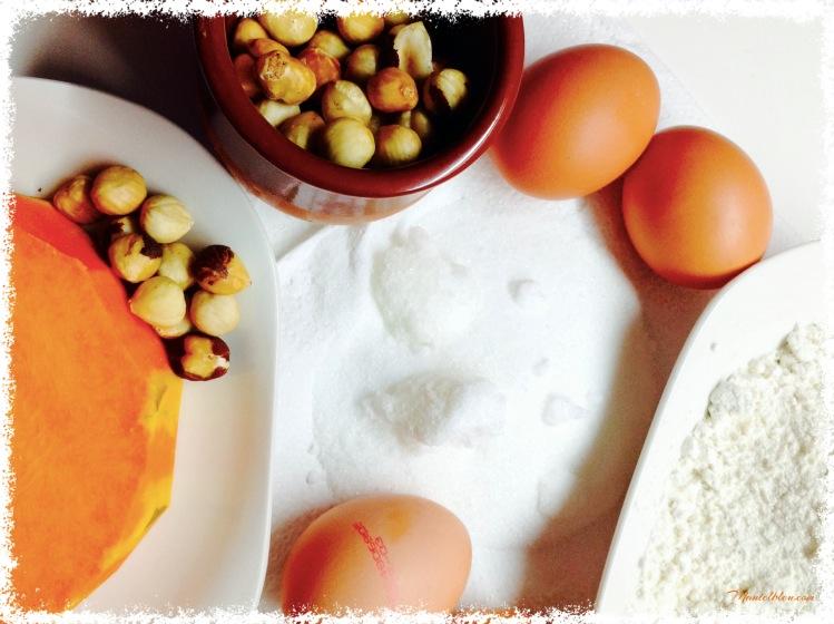 Bizccochuelo de calabaza con crema de queso y conguitos Ingredientes