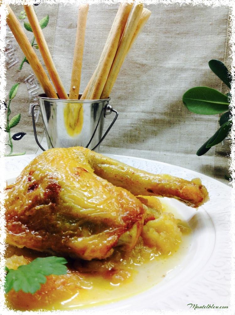 Pollo con manzana 1