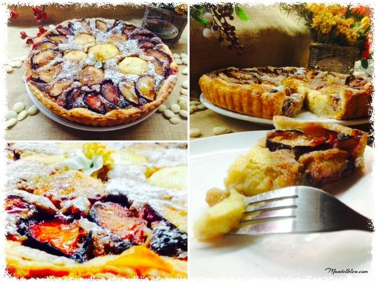 Tarta de almendras con ciruelas y manzanas 3_Fotor