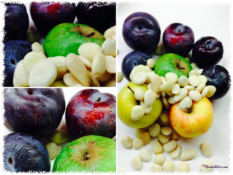 Tarta de almendras con ciruelas y manzanas Ingredientes_Fotor