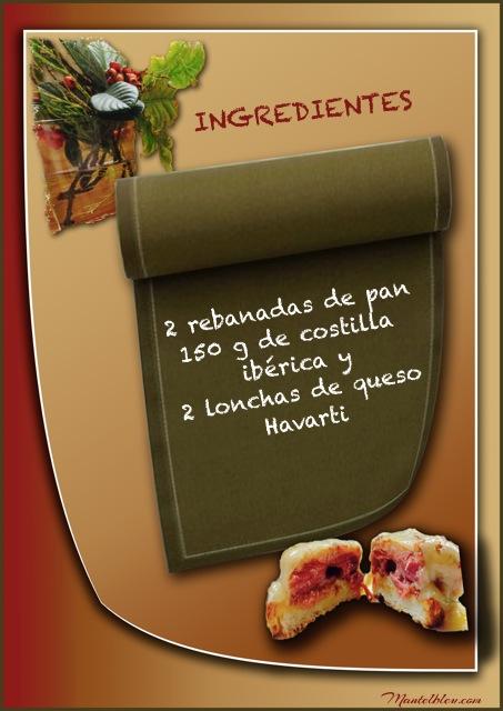 Tosta de costilla ibérica con fundido de queso Ingredientes etiqueta