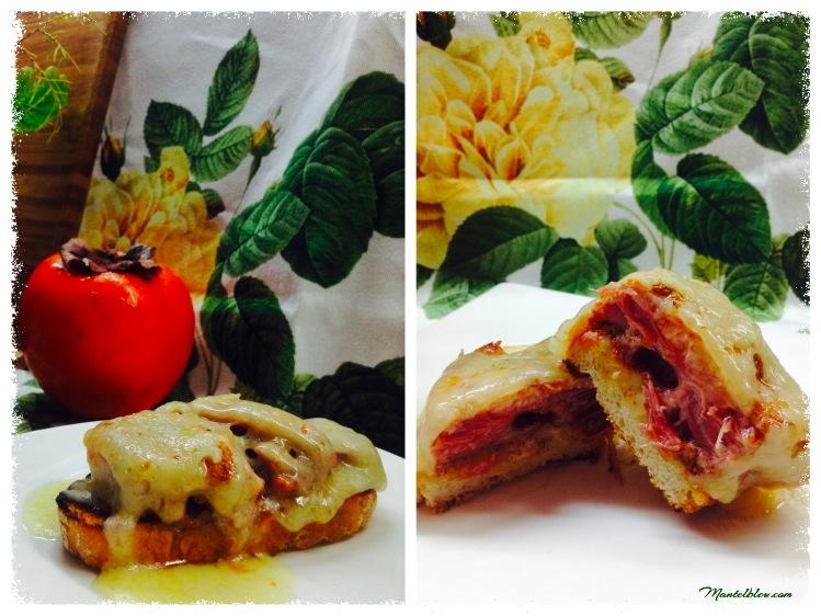 Tosta de costilla ibérica con fundido de queso_Fotor