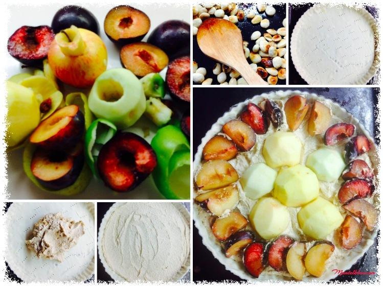 Tosta de almendras con ciruelas y manzanas_ elaboración 1Fotor