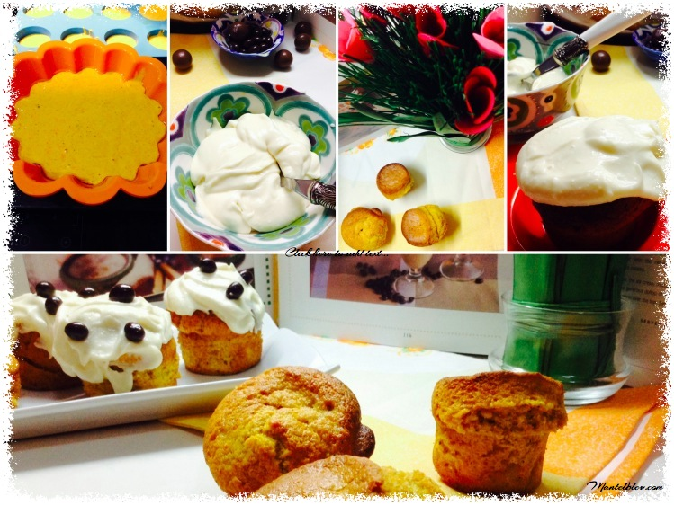 Bizcochitos de calabaza con crema de queso y conguitos elaboración_Fotor