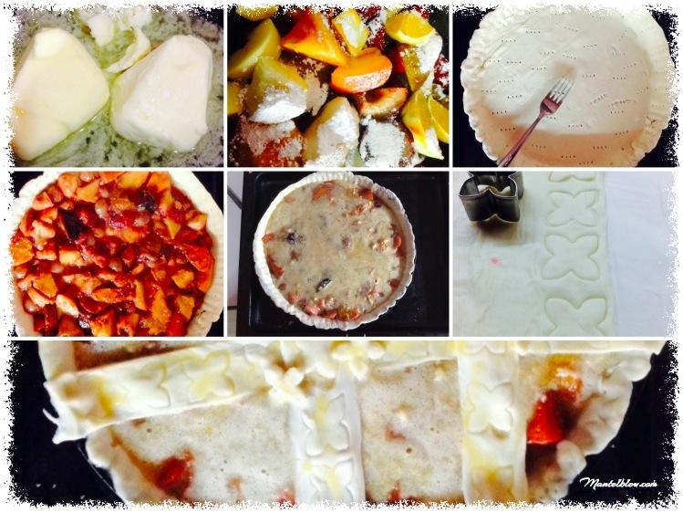 Tarta de almendras y frutas elaboración_Fotor