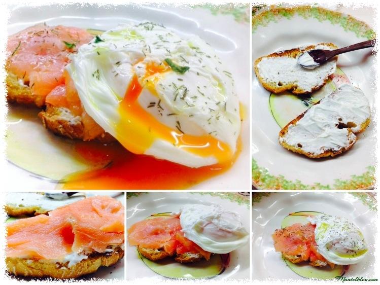 Tosta con salmón y huevo noruego Elaboración_Fotor