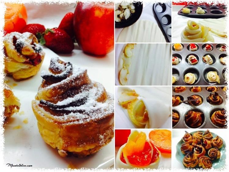 Pastelitos de flores de hojaldre con frutas_Fotor