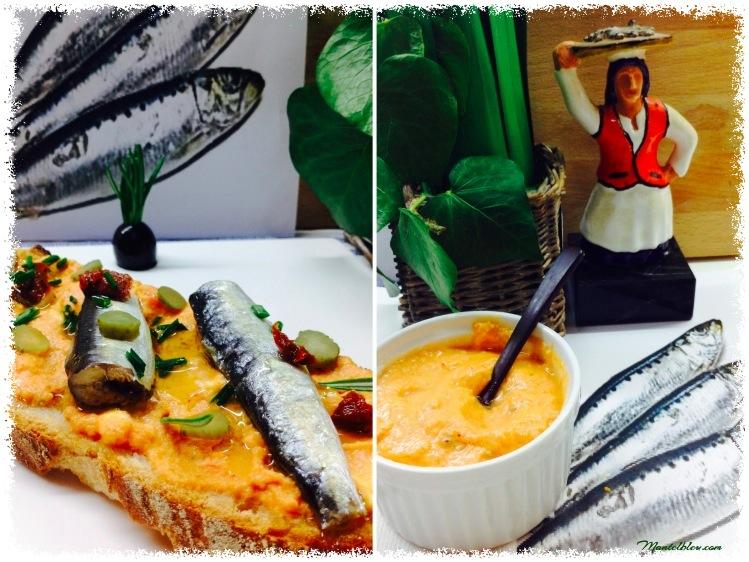 Tosta de sardinillas con crema de gazpacho 4_Fotor