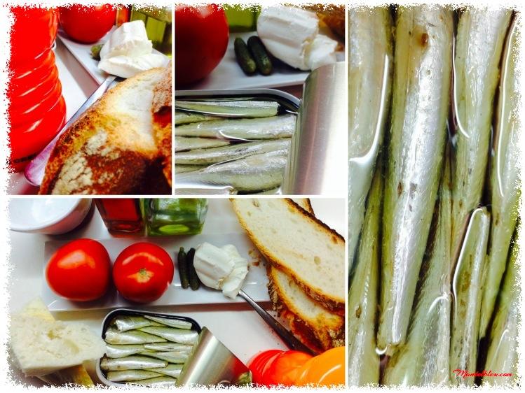 Tosta de sardinillas con crema de gazpacho Ingredientes_Fotor