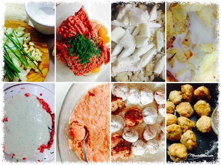 Albóndigas en salsa Elaboración_Fotor