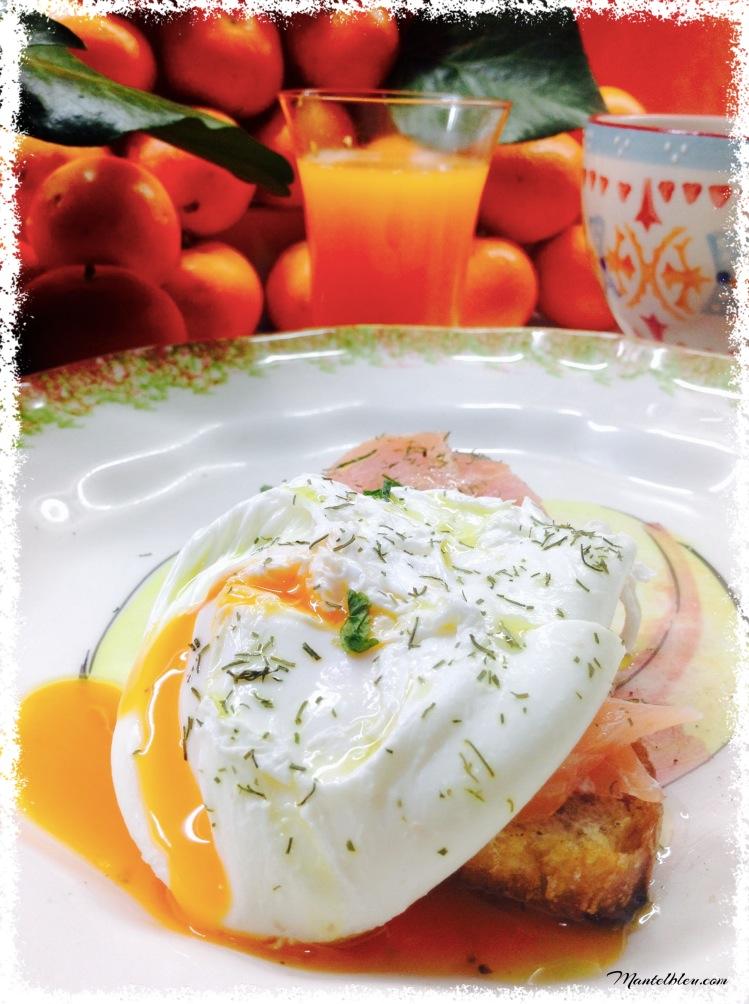 Tosta con salmón y huevo noruego 4