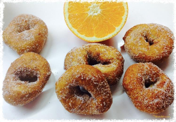 Rosquillas de naranja con azúcar y canela 2