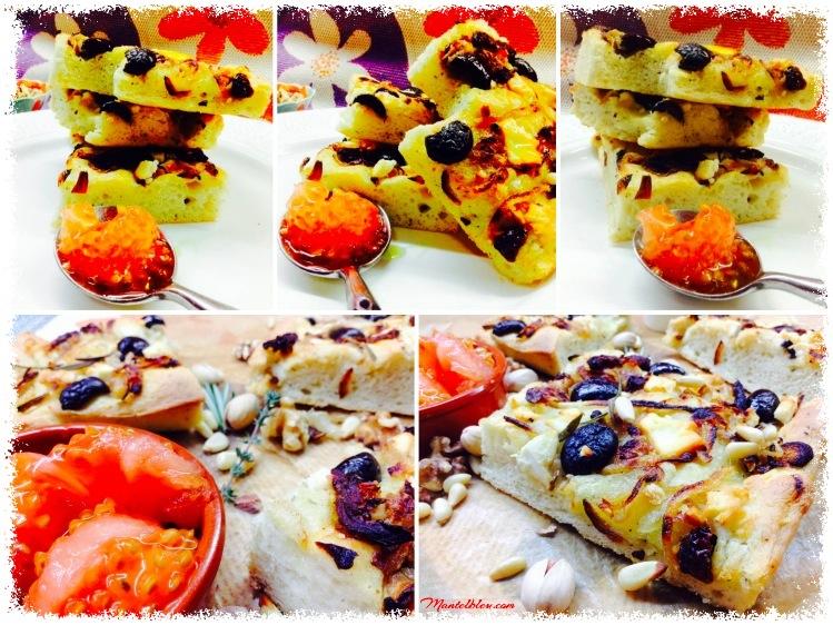 Focaccia con queso feta y aceitunas negras 5_Fotor
