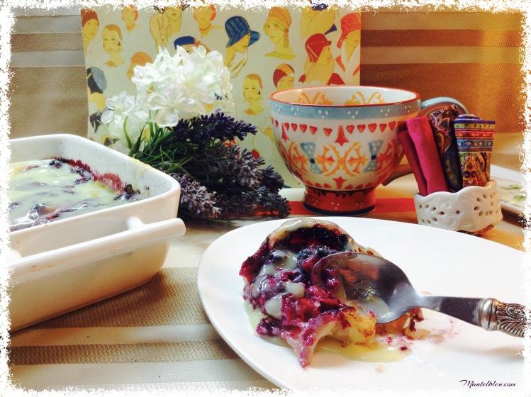 Pastel de hojaldre con frutos rojos y chocolate blanco 1
