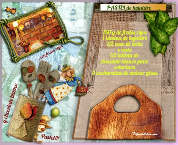 Pastel de hojaldre con frutos rojos y chocolate blanco etiqueta Ingredientes