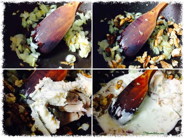 Tosta de gorgonzola con nueces y huevos elaboración_Fotor