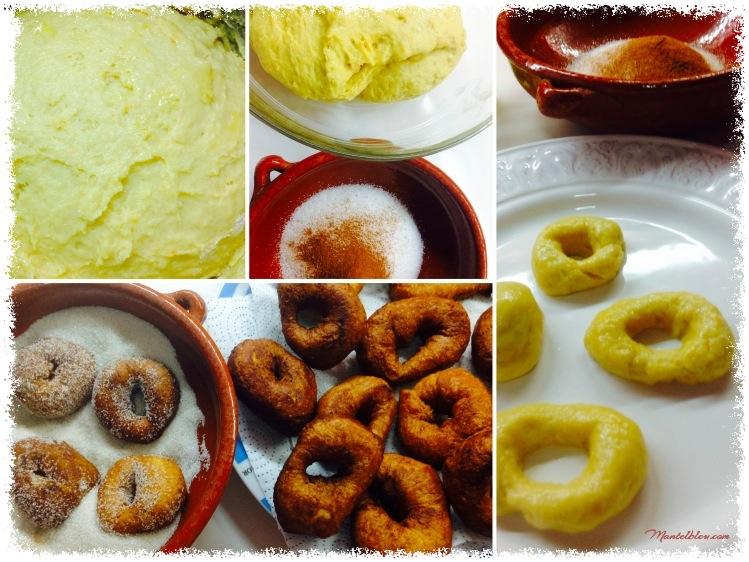 Rosquillas de naranja con azúcar y canela Elaboración_Fotor