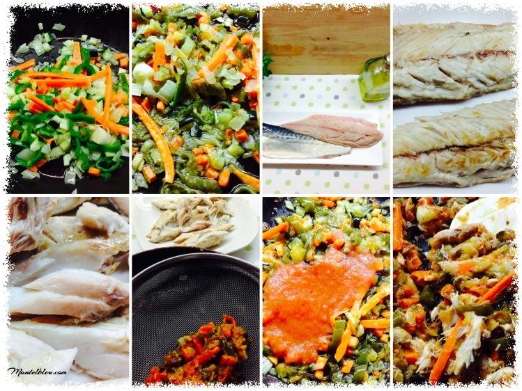 Tosta de verdel con verduras pochadas Elaboración_Fotor
