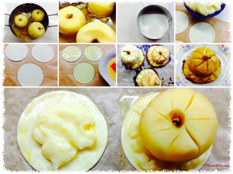 Pastel de manzana con crema pastelera Elaboración_Fotor
