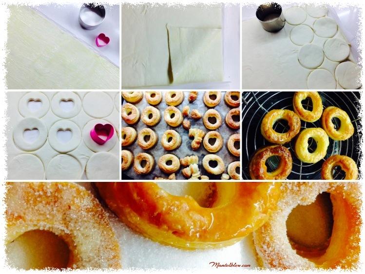 Rosquillas de hojaldre almibaradas Elaboración_Fotor